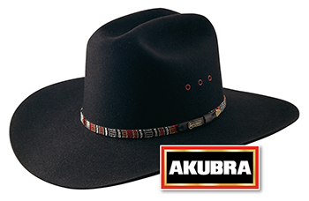 Akubra Bronco Black Hat