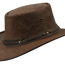 Barmah Squashy Roo Crackle Brown Hat - 1018BC
