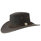 Barmah Drover Oilskin Hat Brown - 1050BR