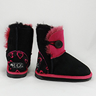 Ugg Kid's - Button Pink Hearts